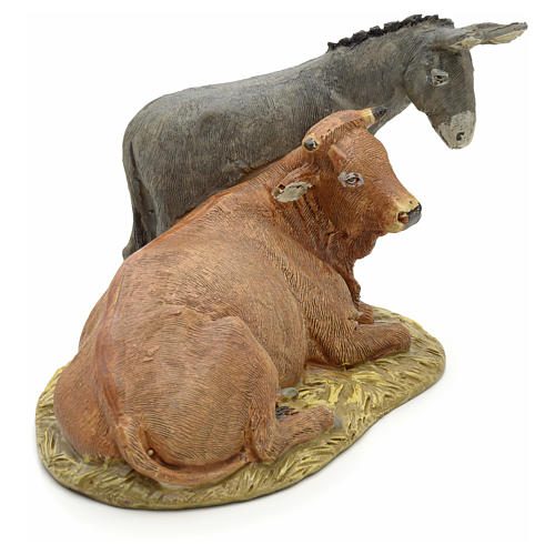 STOCK Ox and Donkey 12cm Landi Line in resin 2