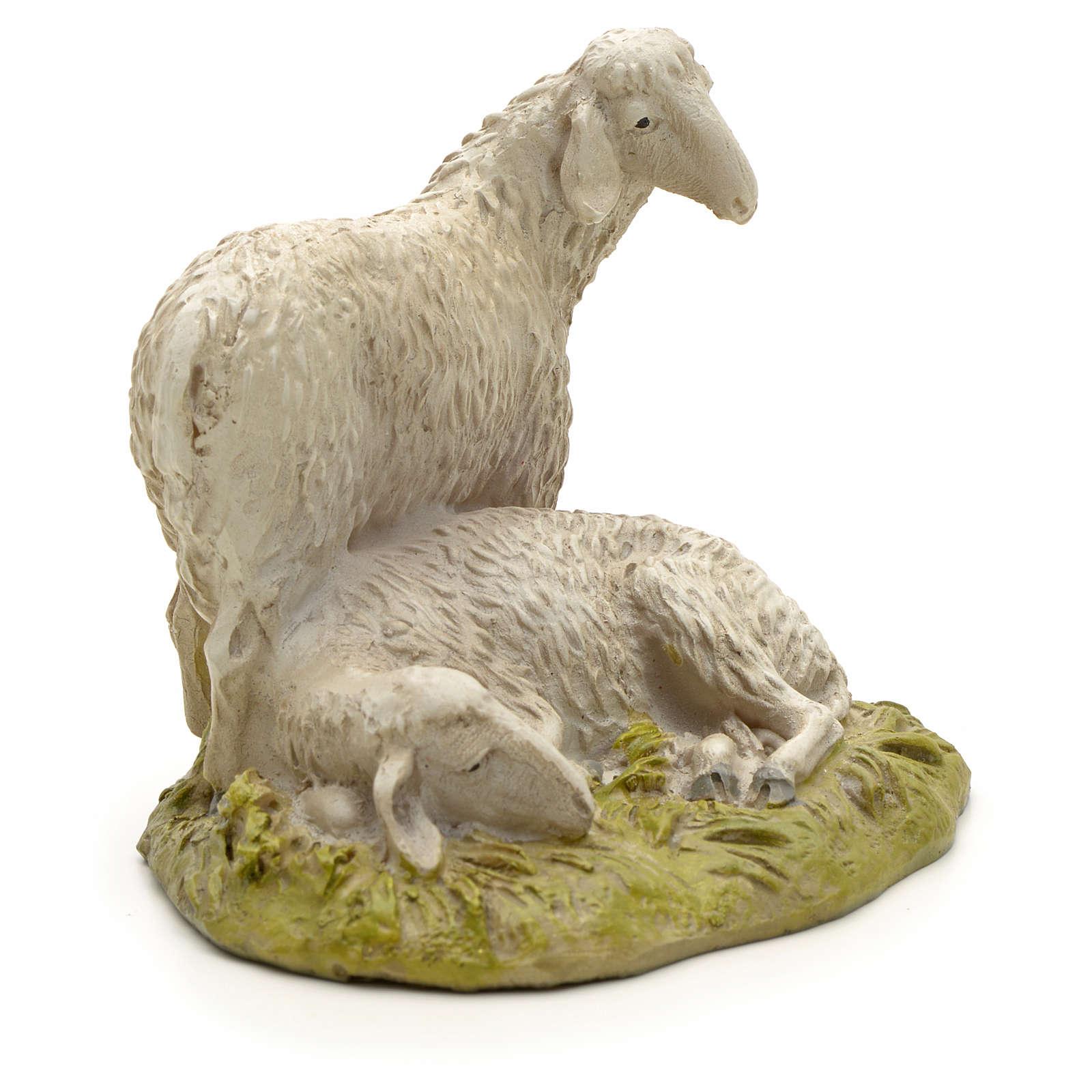 Pecore 12 cm resina Linea Martino Landi 3