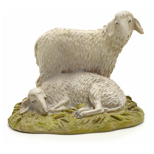Pecore 12 cm resina Linea Martino Landi 1