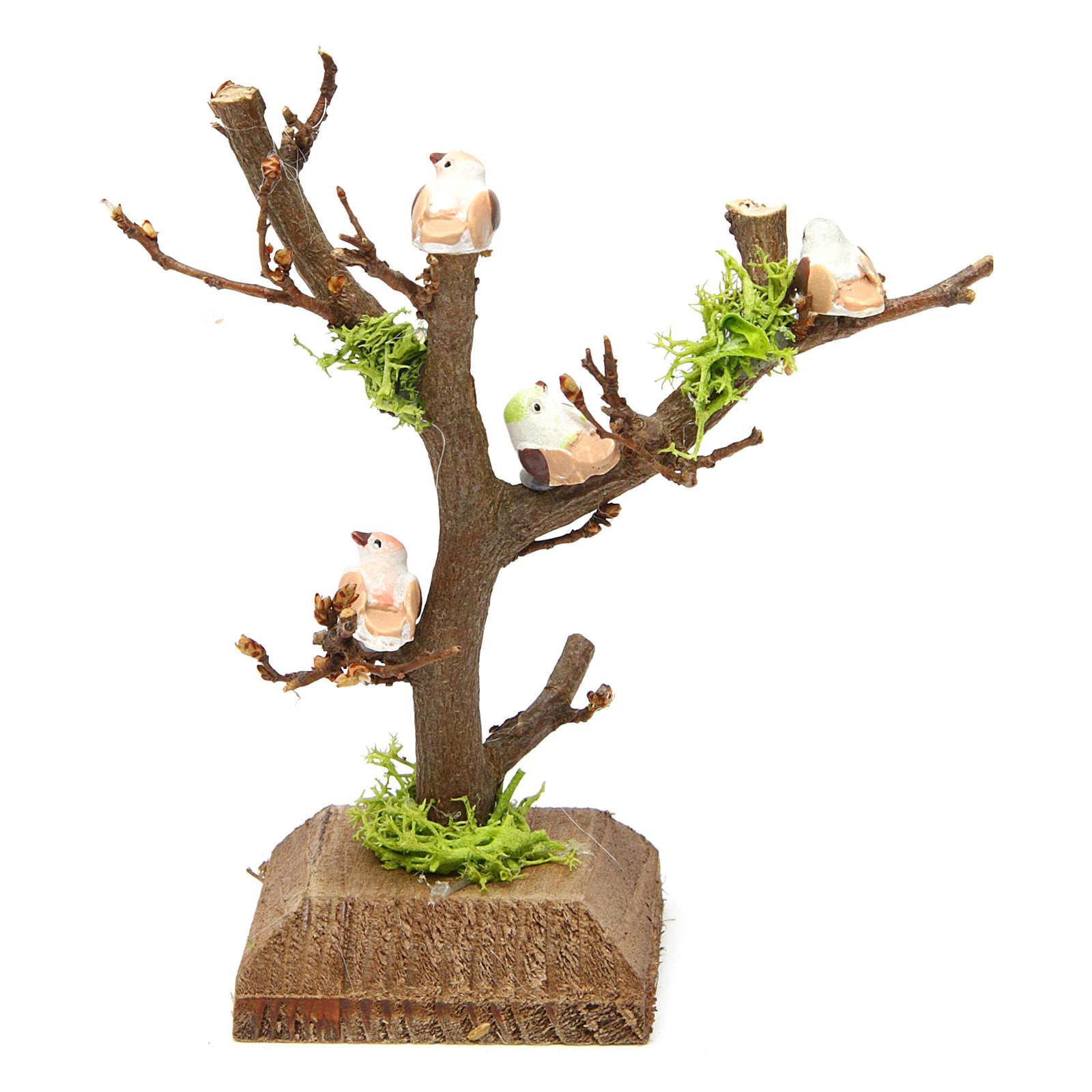Árbol sin hojas con pajaritos para pesebre 4
