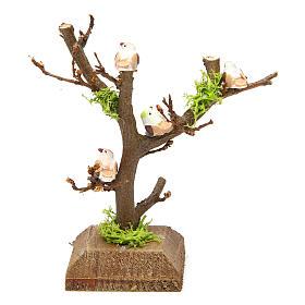 Árbol sin hojas con pajaritos para pesebre s2