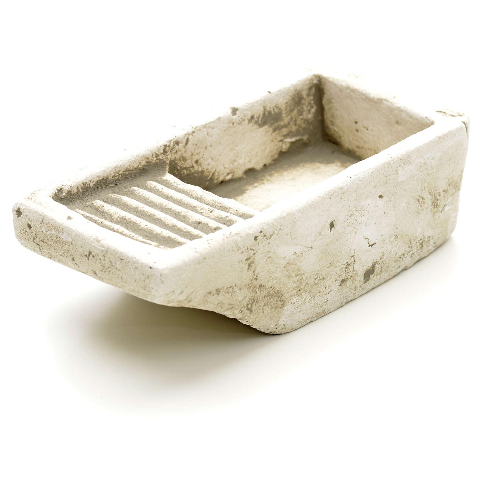 Nativity accessory, cloth wash tub in plaster 4