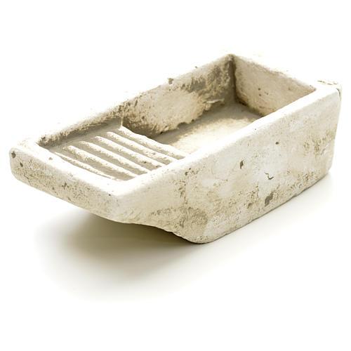 Nativity accessory, cloth wash tub in plaster 2