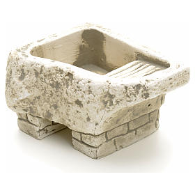 Home accessories miniatures: Washtub in plaster for nativities