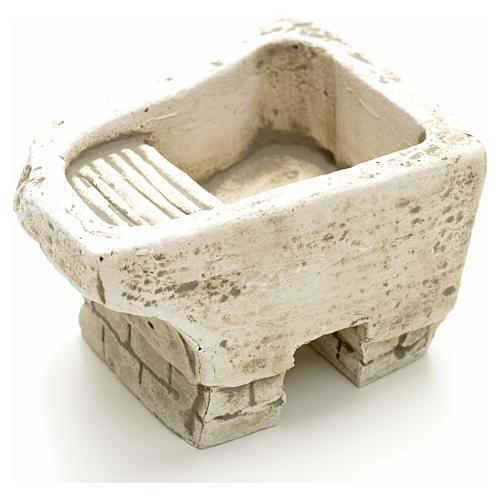 Batea de lavar rústica en yeso para pesebre 2