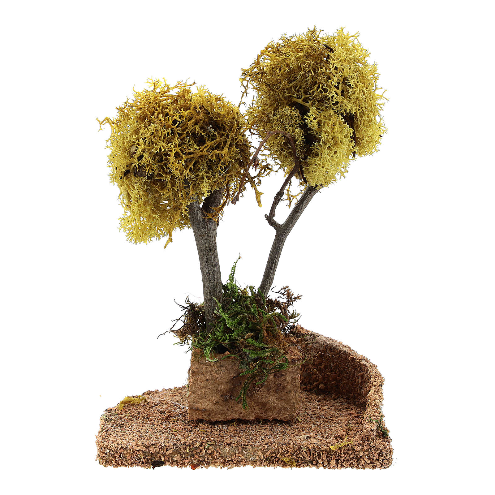 Nativity accessory, yellow lichen tree for do-it-yourself nativi 4