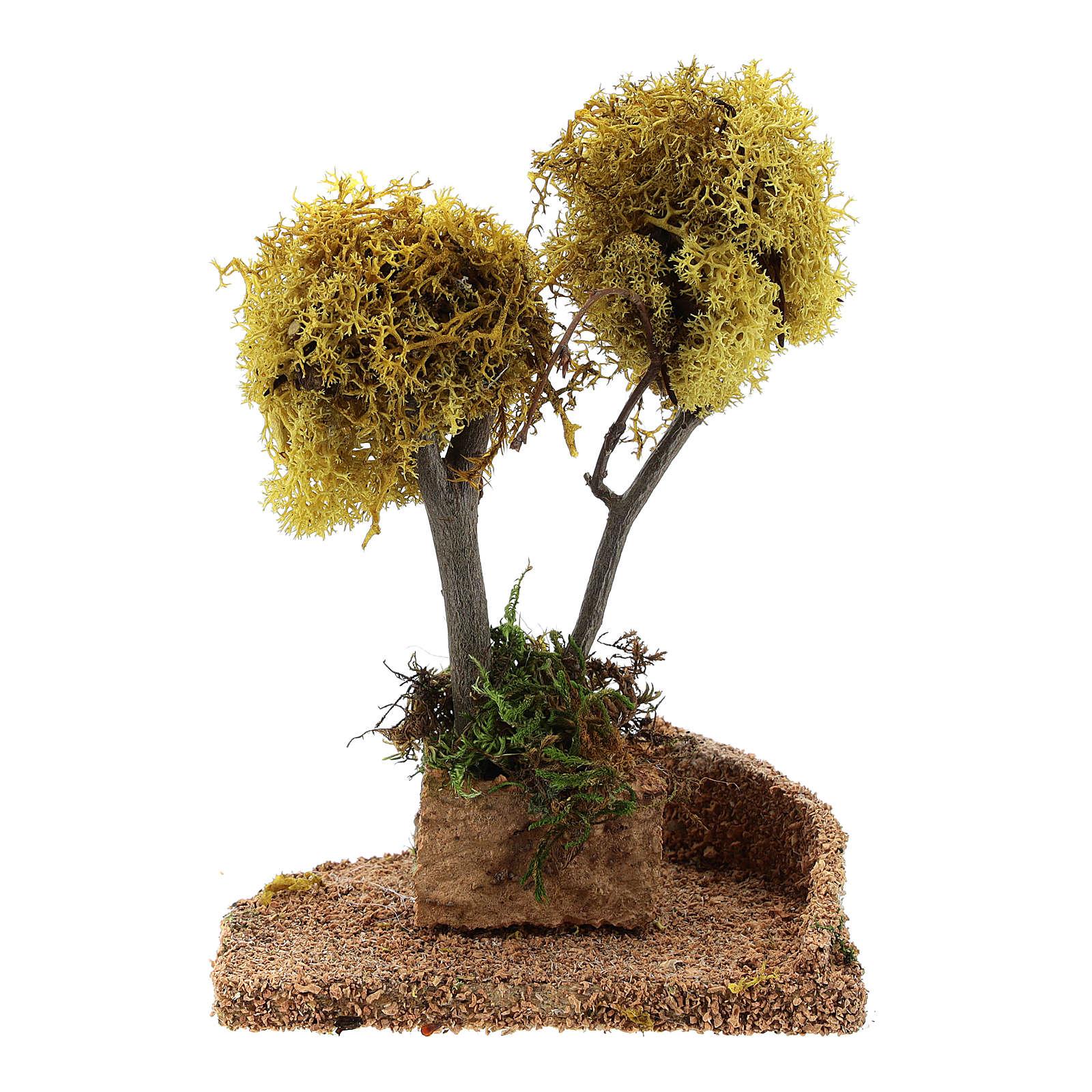 Árvore líquen amarelo para presépio h 18 cm 4