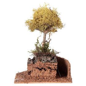 Nativity accessory, yellow lichen tree for do-it-yourself nativi s5