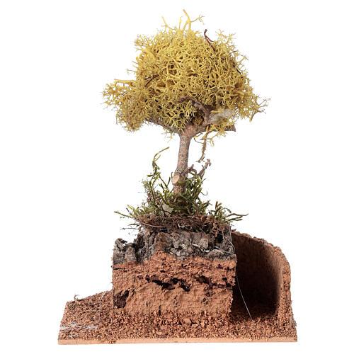Nativity accessory, yellow lichen tree for do-it-yourself nativi 5