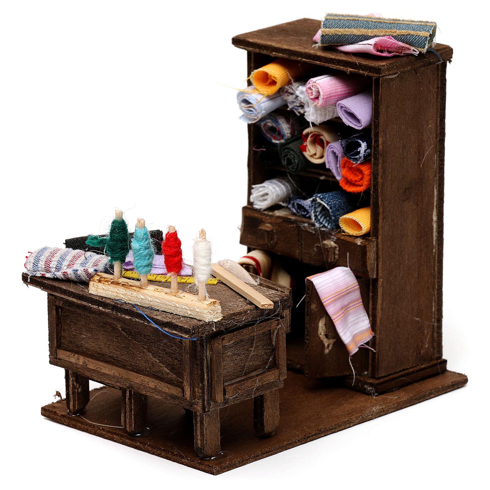 Table du couturier en miniature crèche Napolitaine 4