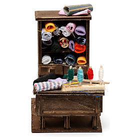 Crèche Napolitaine: Table du couturier en miniature crèche Napolitaine