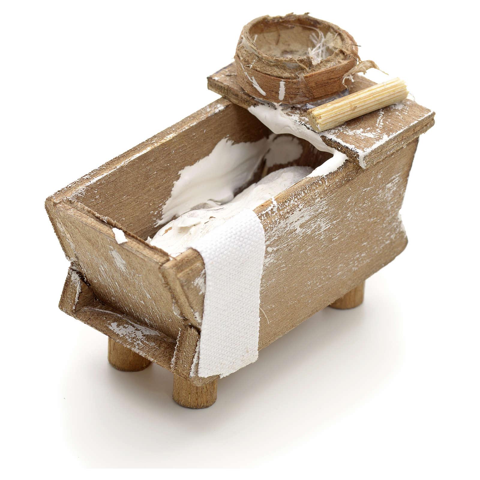 Huche en miniature avec rouleau crèche Napolitaine 4