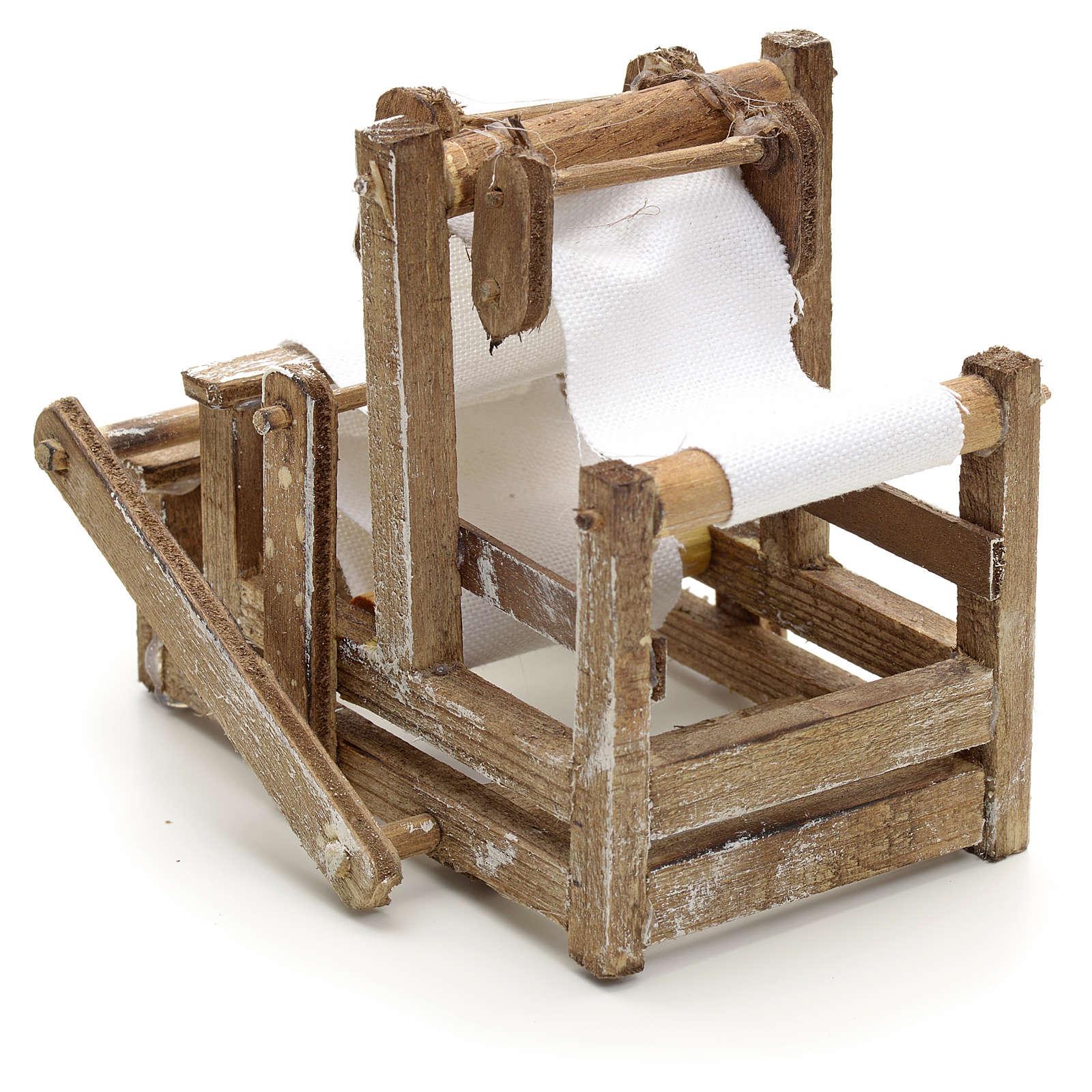 Telar en madera pesebre napolitano 4