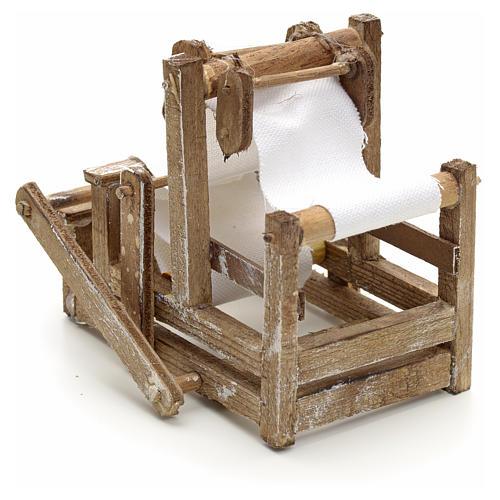 Telar en madera pesebre napolitano 3