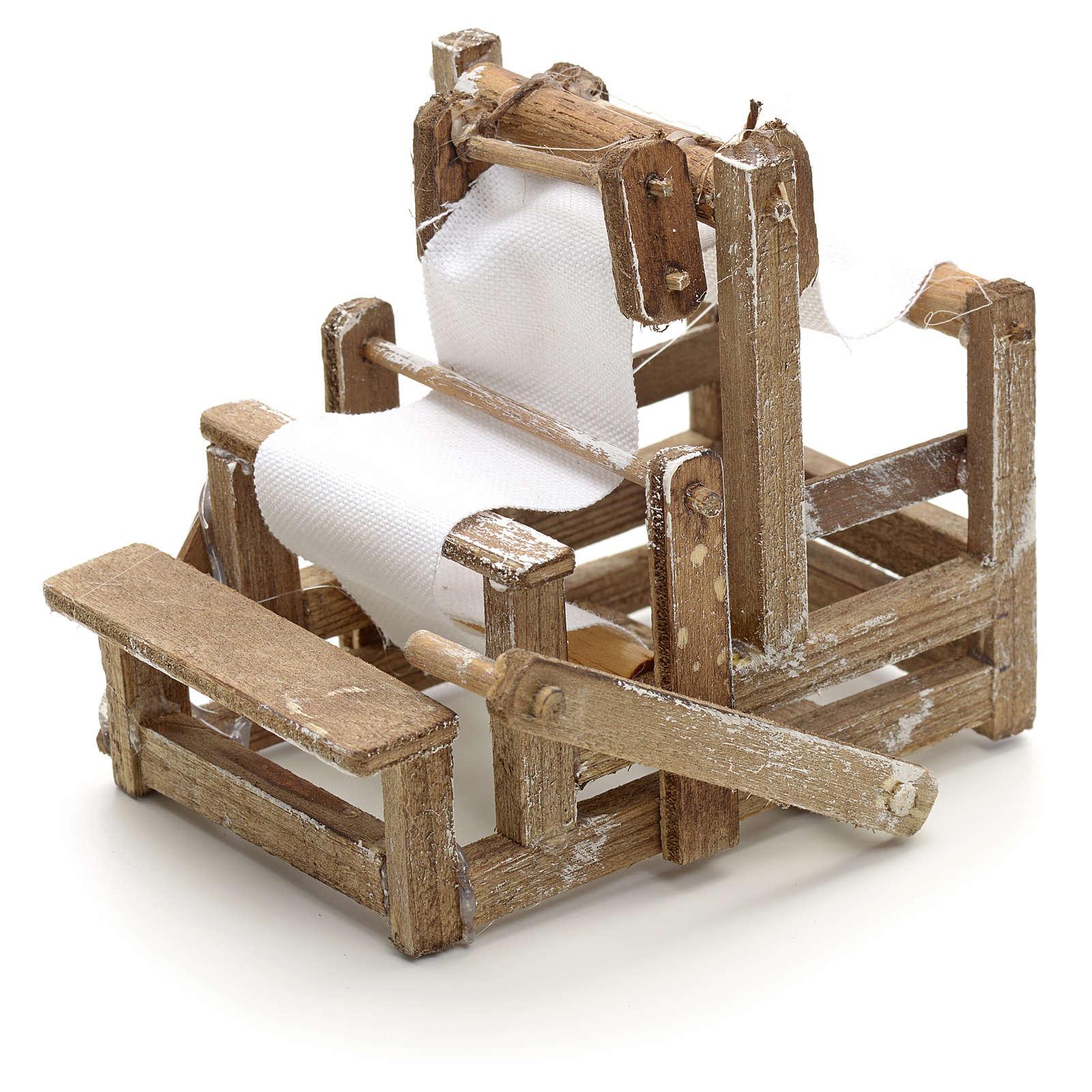 Métier à tisser en miniature crèche Napolit 4