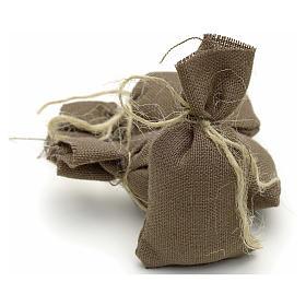 Nativity accessory, set of 3 cloth sacks H7cm s2