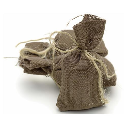 Nativity accessory, set of 3 cloth sacks H7cm 2