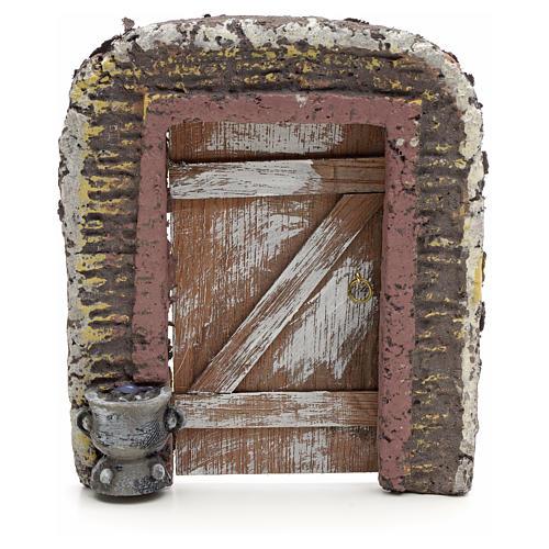 Mur avec porte décor crèche 15x13 cm 1