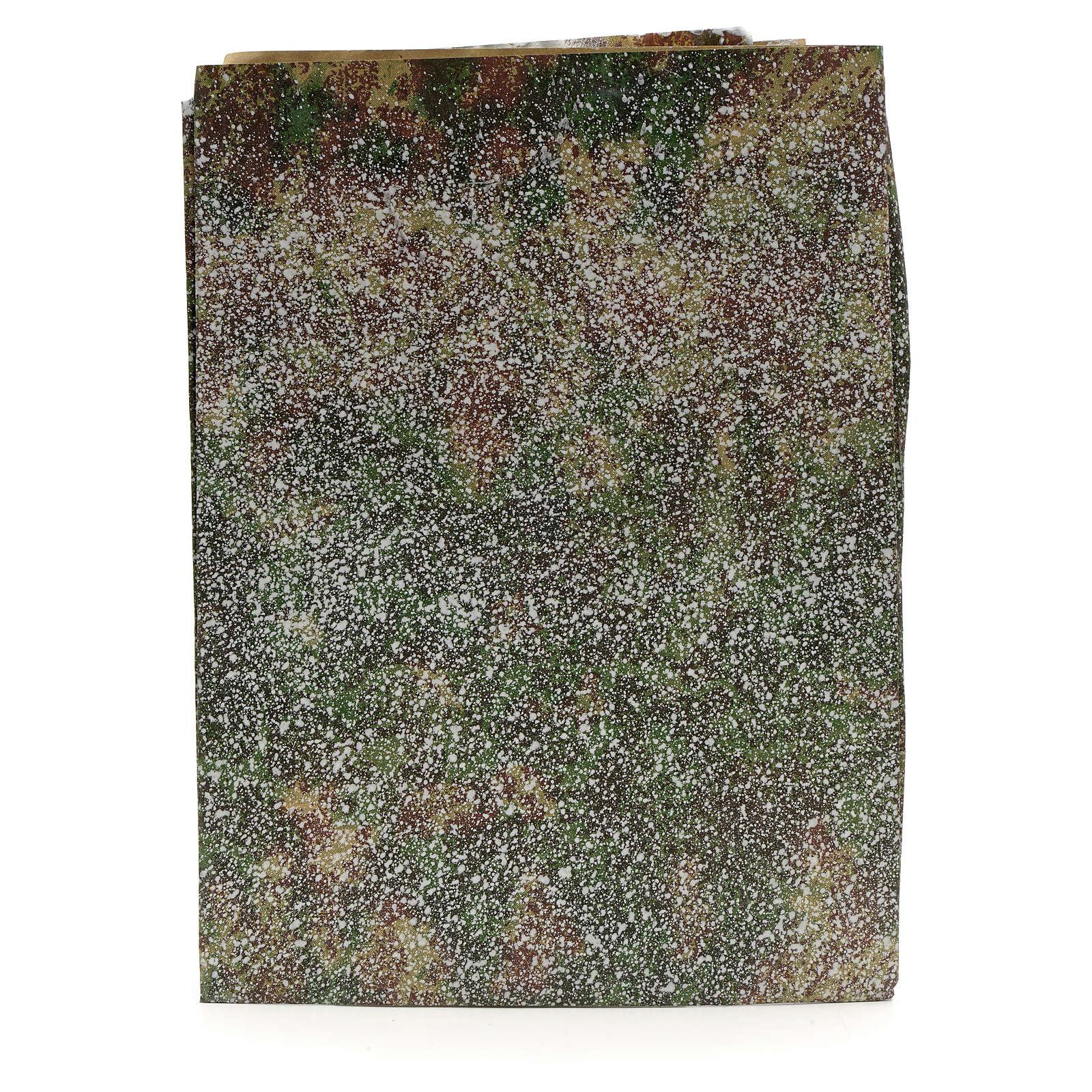 Papier rocher enneigé crèche 70x100 cm 4