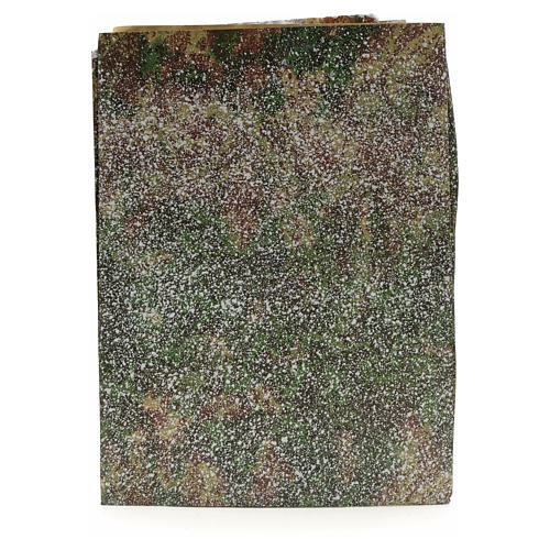 Papier rocher enneigé crèche 70x100 cm 1