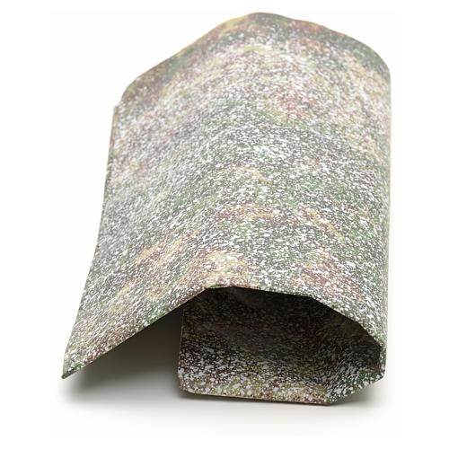 Papier rocher enneigé crèche 70x100 cm 2