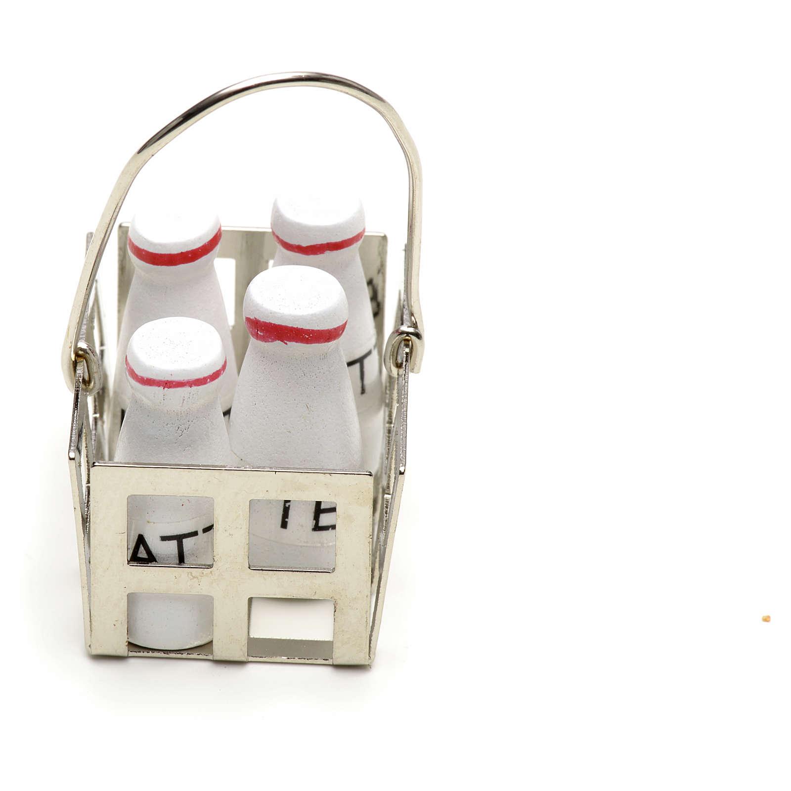 Casier à lait en miniature crèche noel 4