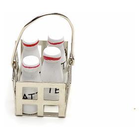 Casier à lait en miniature crèche noel s2