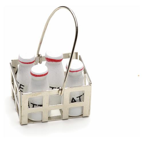 Casier à lait en miniature crèche noel 1