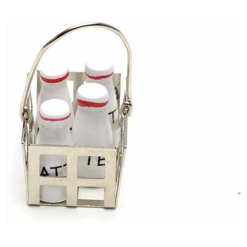 Casier à lait en miniature crèche noel 2
