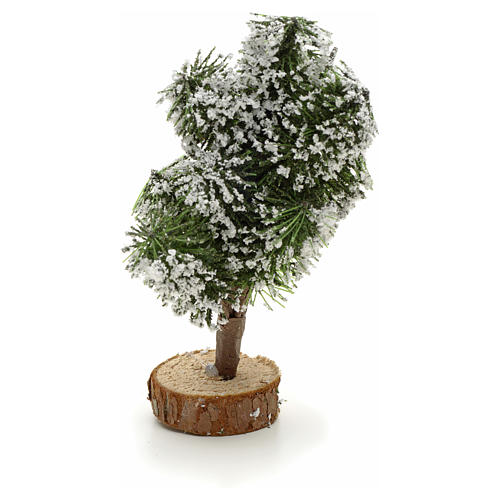 Snowy Christmas tree with base, 12cm 1