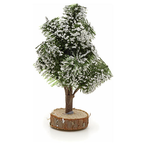 Snowy Christmas tree with base, 12cm 2