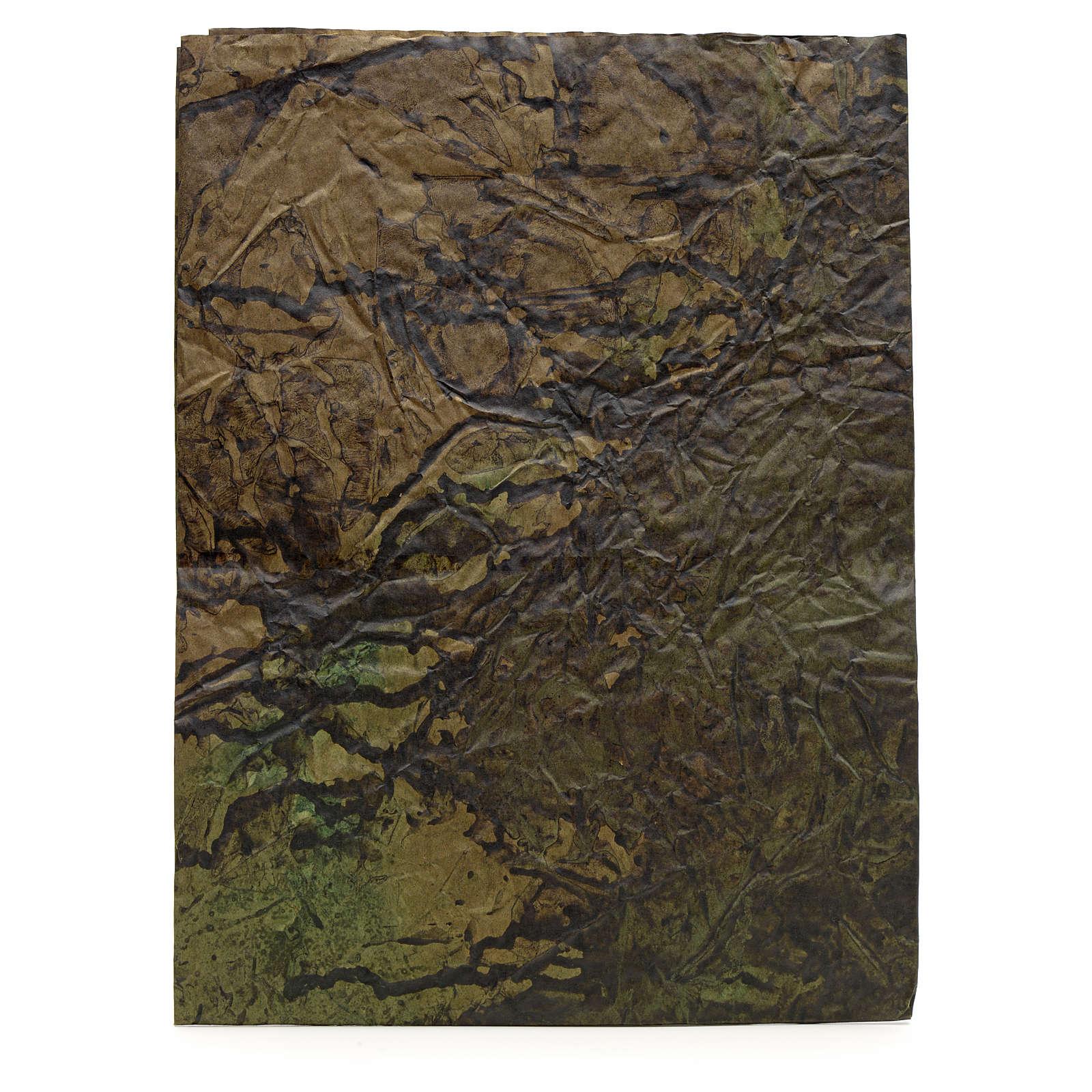 Foglio carta roccia dipinta 70x100 presepe 4