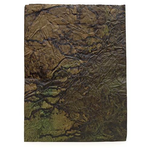 Foglio carta roccia dipinta 70x100 presepe 1