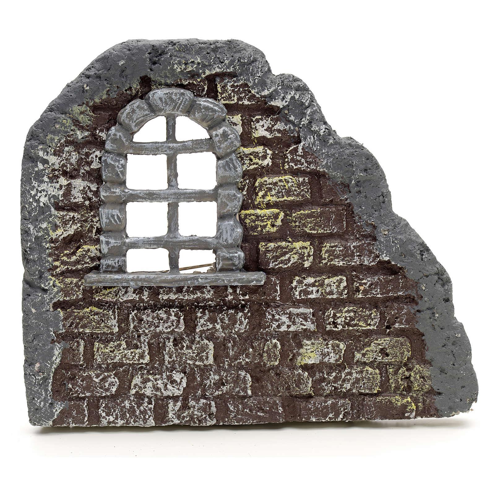 Mur avec fenêtre en miniature 16x19 4