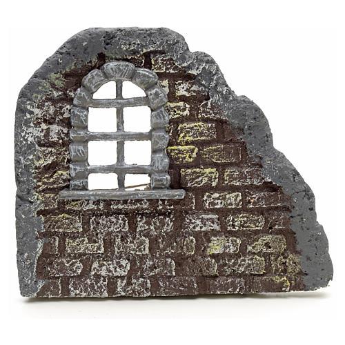 Mur avec fenêtre en miniature 16x19 1