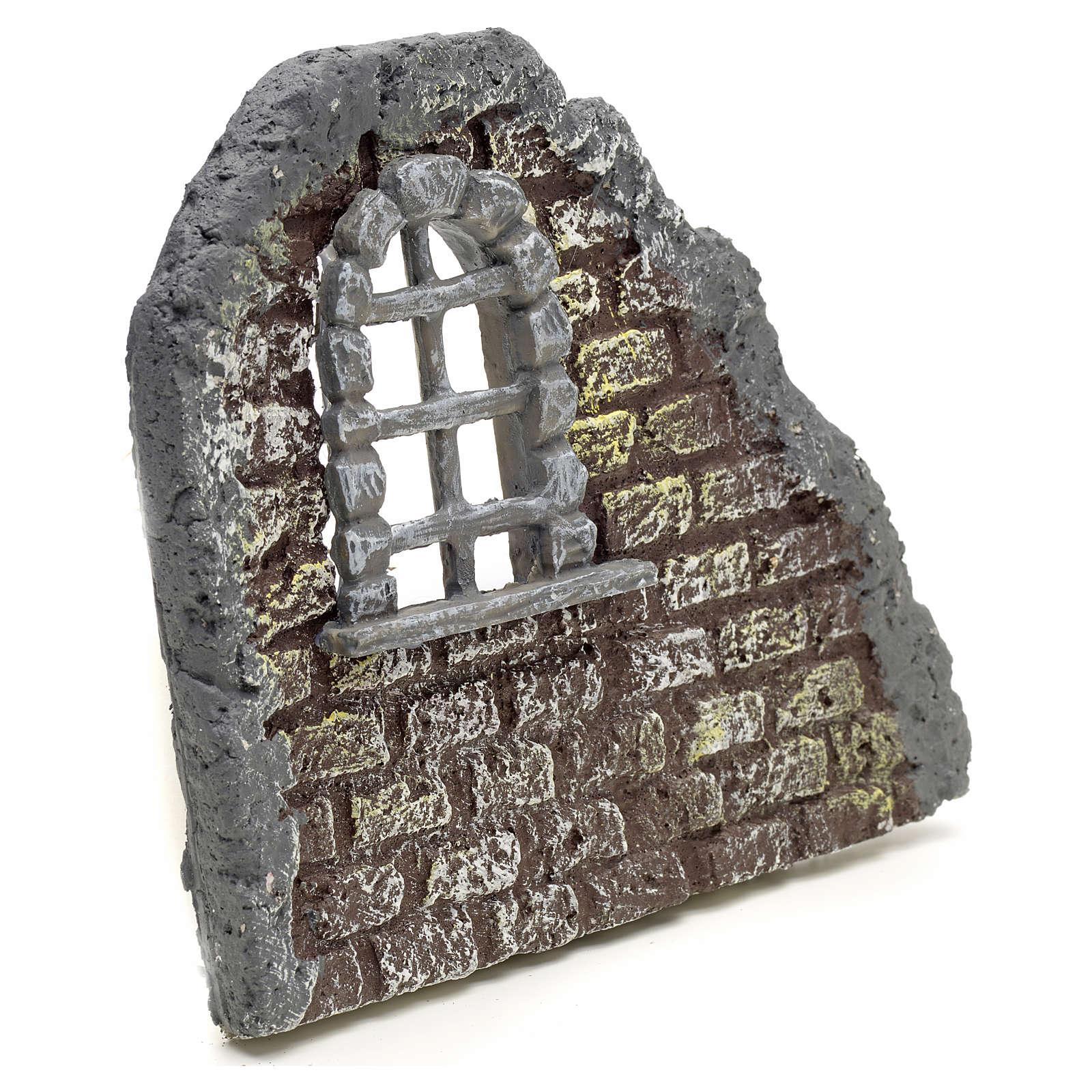 Nativity accessory, door with wall, 16x19cm 4
