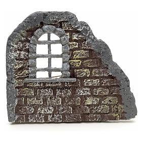 Nativity accessory, door with wall, 16x19cm s1