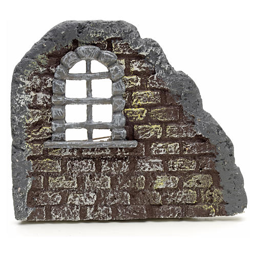 Nativity accessory, door with wall, 16x19cm 1