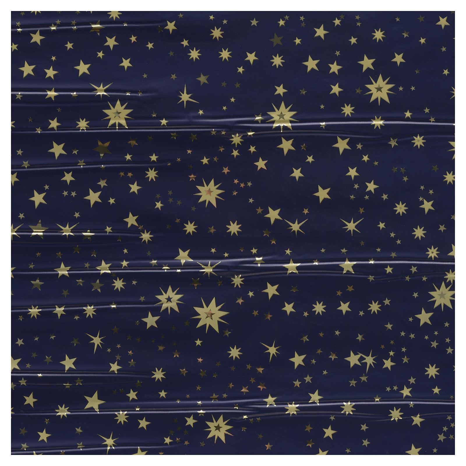Rotolo cielo stellato oro 70x100 presepe 4