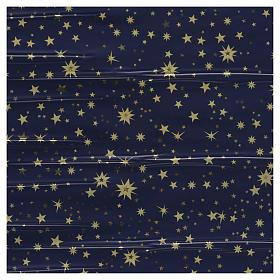 Rotolo cielo stellato oro 70x100 presepe s1