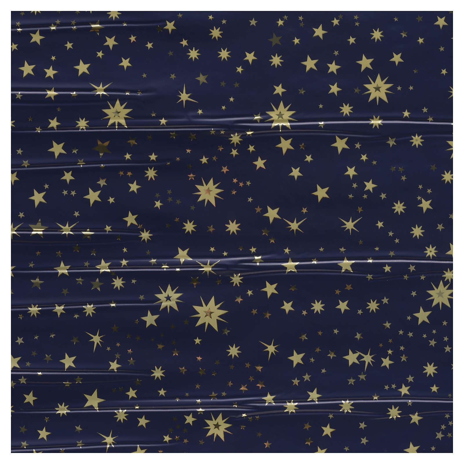 Nativity scene backdrop, sky with gold stars, roll of paper 70 x 4