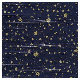 Nativity scene backdrop, sky with gold stars, roll of paper 70 x s1