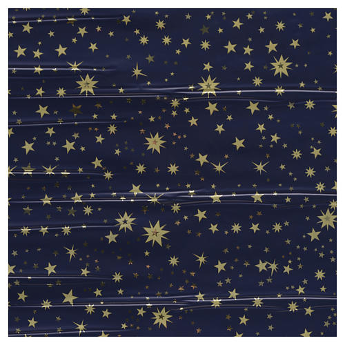 Nativity scene backdrop, sky with gold stars, roll of paper 70 x 1