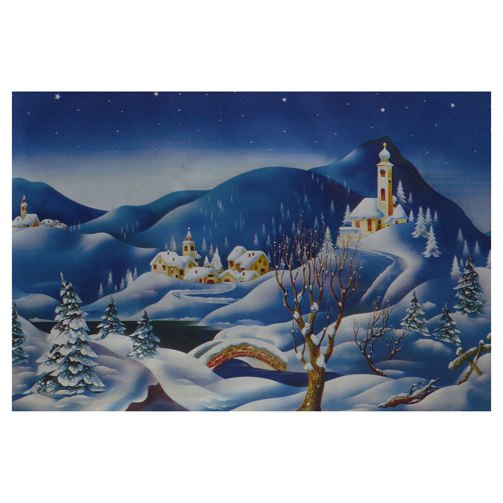 Rotolo fondale invernale 70x100 cm presepe 4