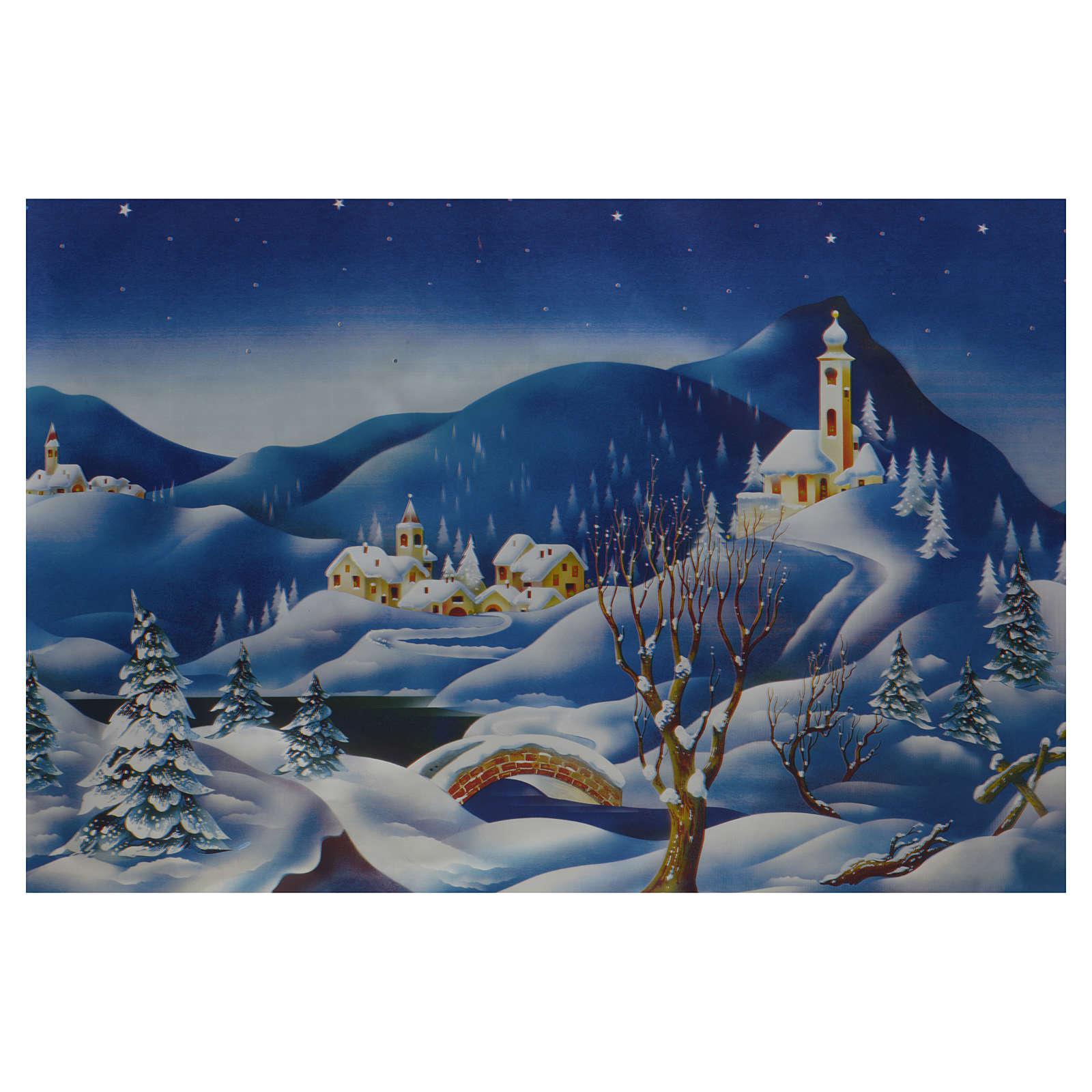 Nativity scene backdrop, winter setting, roll of pvc 70 x 100c 4
