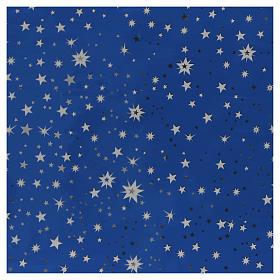 Rollo cielo estrellado plateado 70x100 pesebre s1
