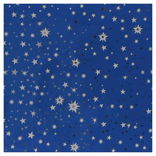 Rollo cielo estrellado plateado 70x100 pesebre 1