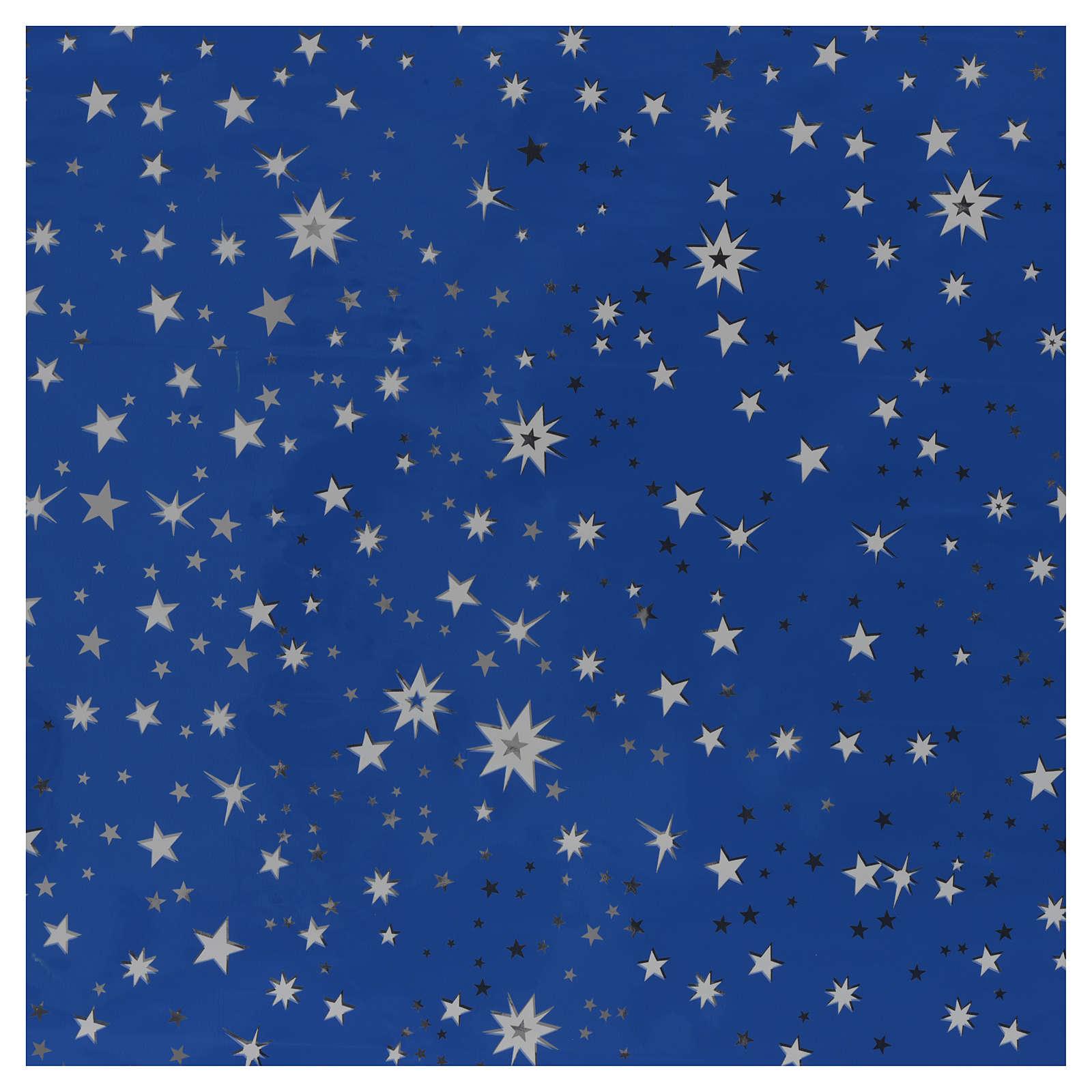 Rotolo cielo stellato argento 70x100 presepe 4