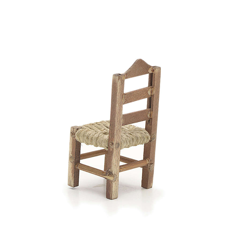 Chaise en miniature pour la crèche Napolitaine h 6 cm 4