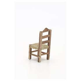 Chaise en miniature pour la crèche Napolitaine h 6 cm s4